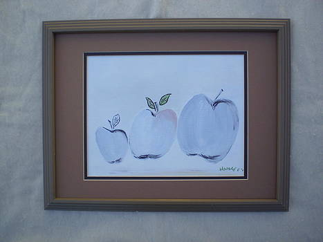 Apple leaves by Harold Messler