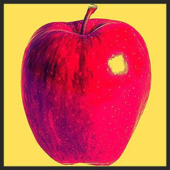 Apple Pop Art by Lee Farley