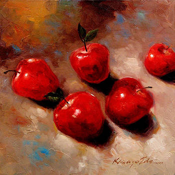 Apples - Luscious fruit painting by Kanayo Ede