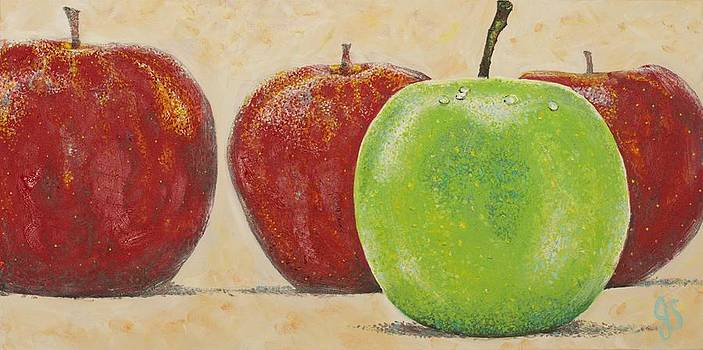 Apples 2 by Joyce Sherwin