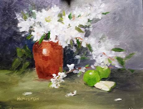 Apples and Blossoms by Larry Hamilton