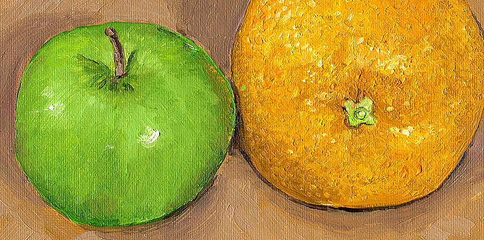 Apples and Oranges Painting by