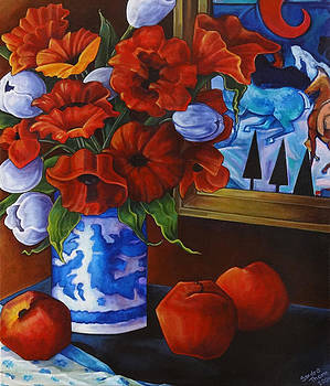 Apples and Poppies by Thome Designs