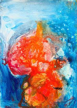 Apples in Blue by Tonya Schultz
