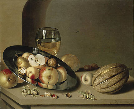 Ambrosius Bosschaert the Younger - Apples Pears Peaches and Walnuts