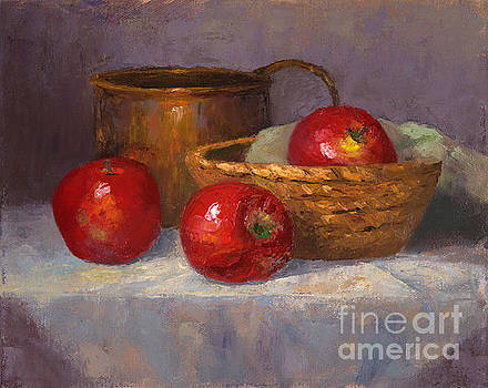 Apples with copper pot by Christa Eppinghaus