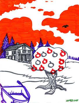 Appletree Psyche-Scape by John Ashton Golden