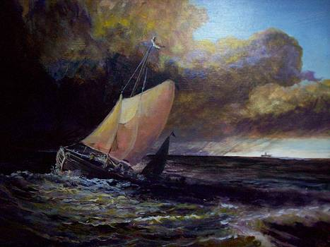 Approaching Gale  after Turner by J Anthony Shuff