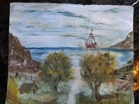 Approaching Ship by Kam Abdul
