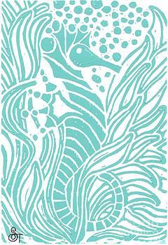 Aqua Seahorse by Stephanie Troxell