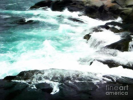 Aqua Water on the Rocks by Lorraine Heath