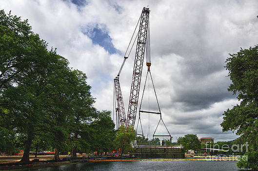 Aquarena Springs Submarine Removal Crane by Richard Mason