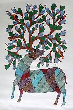 AR-04- Dear with tree by Kaushal Prasad Tekam