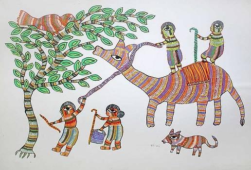 AR 20- village scene by Durga Bai