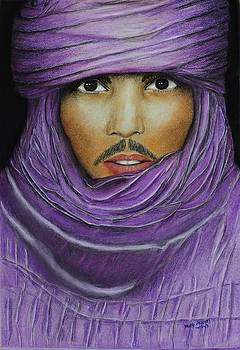 Arab in traditional costume by David Hawkes