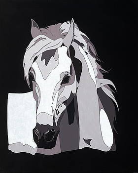 Arabian Horse with hidden picture by Konni Jensen