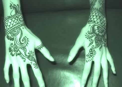 Arabic tattoo by Yaa Hughes