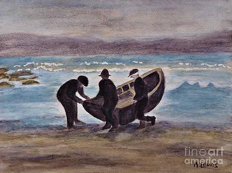 Aran Island Currach by Marie Lewis