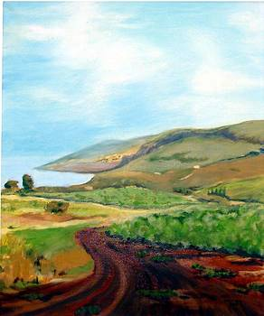 Arbel and sea of Galilee by Hannah Baruchi