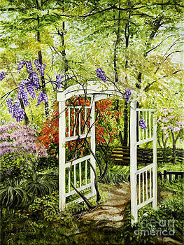 Arbor in Spring at Colvin Run Mill by Gail Darnell