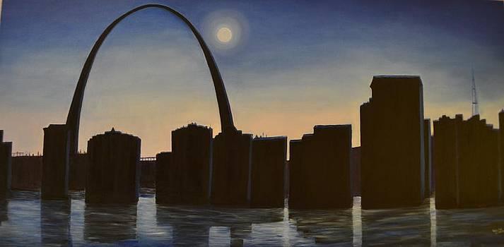 Arch in St Louis by Usha Rai