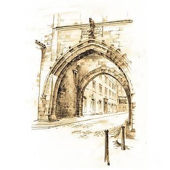 Arch of Malostranska Tower. Praha by Viacheslav Rogin