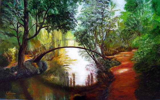 Arched Bridge over Brilliant Waters by LaVonne Hand