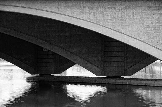 Arches on Broad Street bridge columbus by Dick Wood