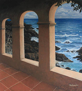 Arches Over The Ocean by Tracy Dupuis Roland