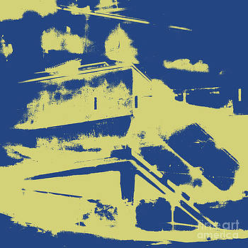 Architectural Abstract in Blue by Emilio Lovisa
