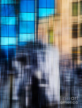 Architectural Abstract in Bright Blue by Emilio Lovisa
