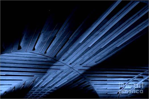 Architecture Blue by Patty  Thomas