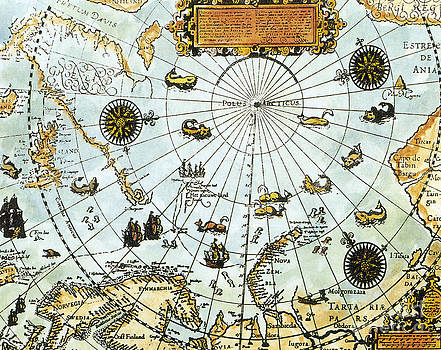 Science Source - Arctic Map By William Barents 1588