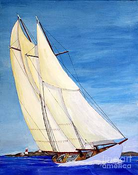 Arethusa at Abaco  BWI 1921 by Bill Hubbard