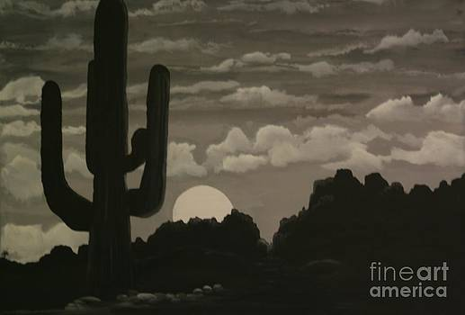 Arizona Cactus by Donna Jeanne  Carver