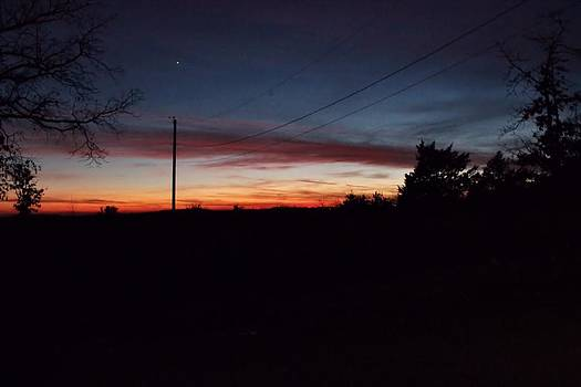 Arkansas winter sunset by Edward Hamilton