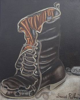 Army Boot Retired  by Susan Roberts