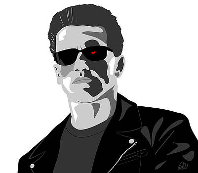 Arnold Schwarzenegger The Terminator by Paul Dunkel