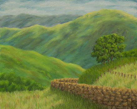 Around the bend - a road in Scotland by Rebecca Prough
