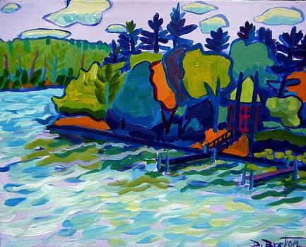 Around the Bend  Merrimack River by Debra Bretton Robinson