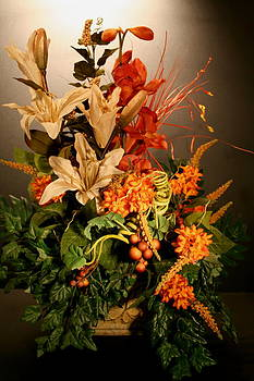 Arrangement of Flowers by Diane Merkle
