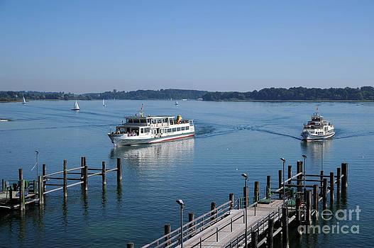 Arriving In Prien Harbor by Angela Kail