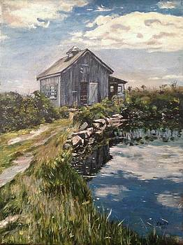 Art Barrn At Star Island New Hampshire by Victor SOTO