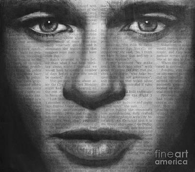 Art in the news 32- Brad Pitt by Michael Cross