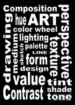 Art Sign Black by David K Small