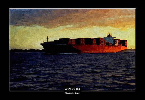 Alexander Drum - Art Work 035 Container Ship