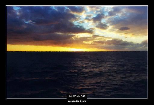 Alexander Drum - Art Work 063 sunset on the sea