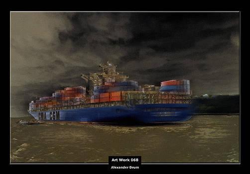 Alexander Drum - Art Work 068 Container Ship
