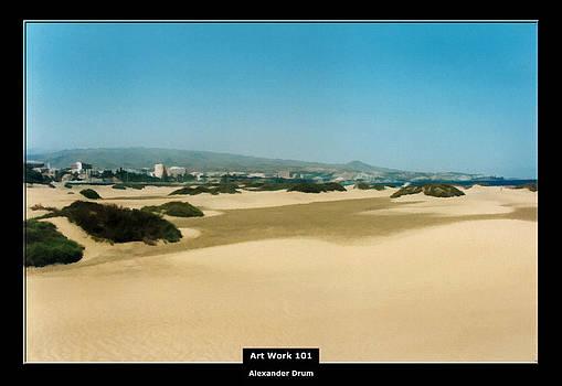 Alexander Drum - Art Work 101 sand dunes of Gran Canaria