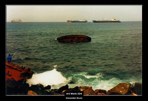 Alexander Drum - Art Work 104 sunken ship
